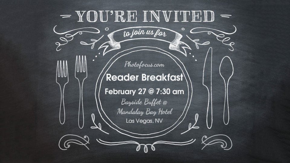Join The Photofocus Staff For Breakfast At WPPI!