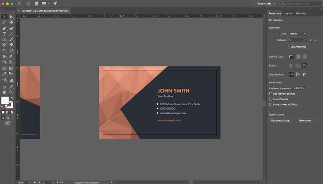 Creating a business card with adobe stock photofocus if you come across a graphical element that you arent sure how to change the color of try and use the direct selection tool commonly referred to as the reheart Gallery