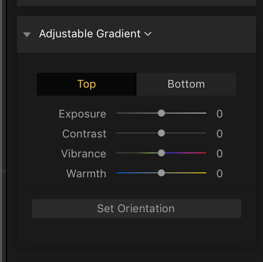 Adjustable Gradient Filter