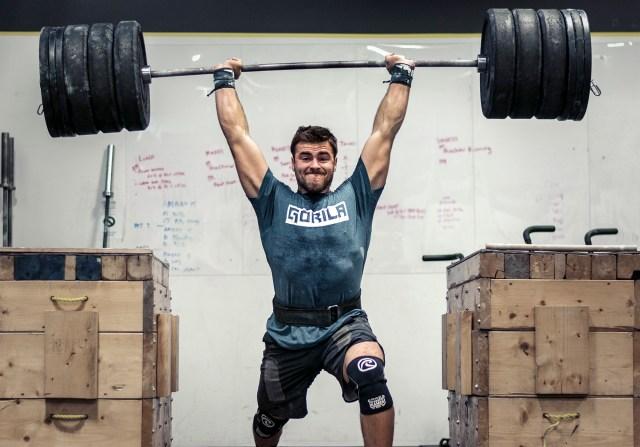 CrossFit athlete Alex Vigneault lifts heavy weights