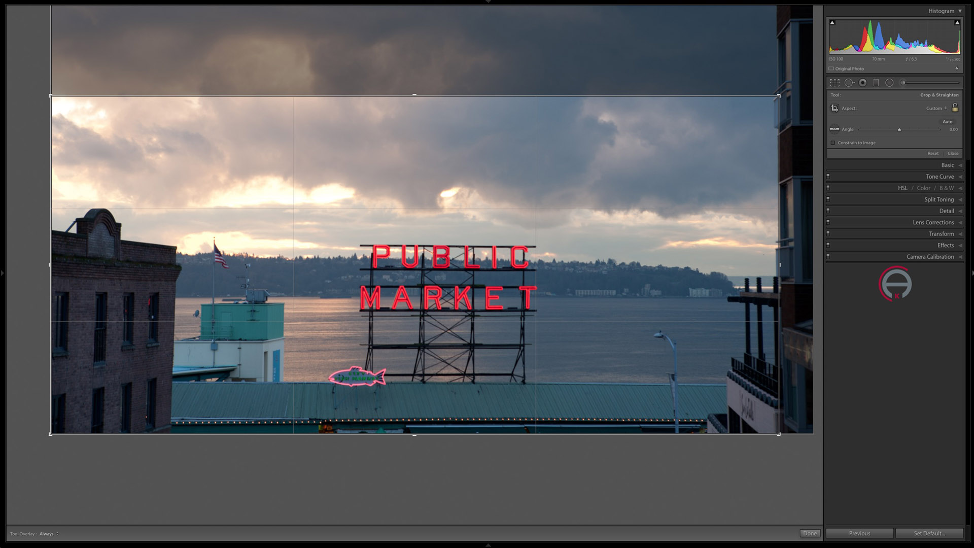 Cropping to different ratios in Lightroom