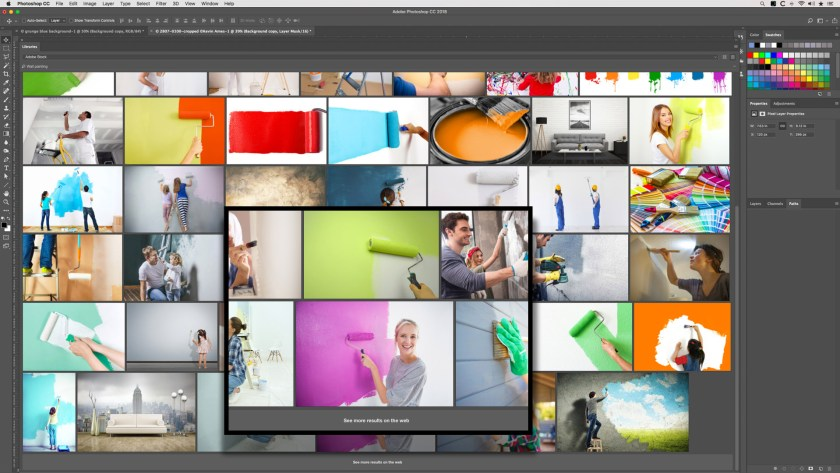 Kevin's Adobe Stock Library workspace in Photoshop