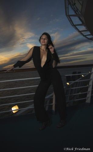 sunset, cruise, rails, Royal Caribbean