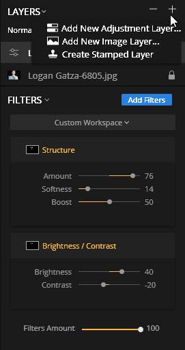 New Adjustment Layer