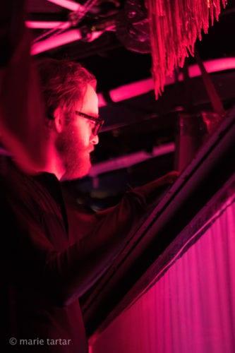 Behind the scenes performer at Symphonie Fantastique.