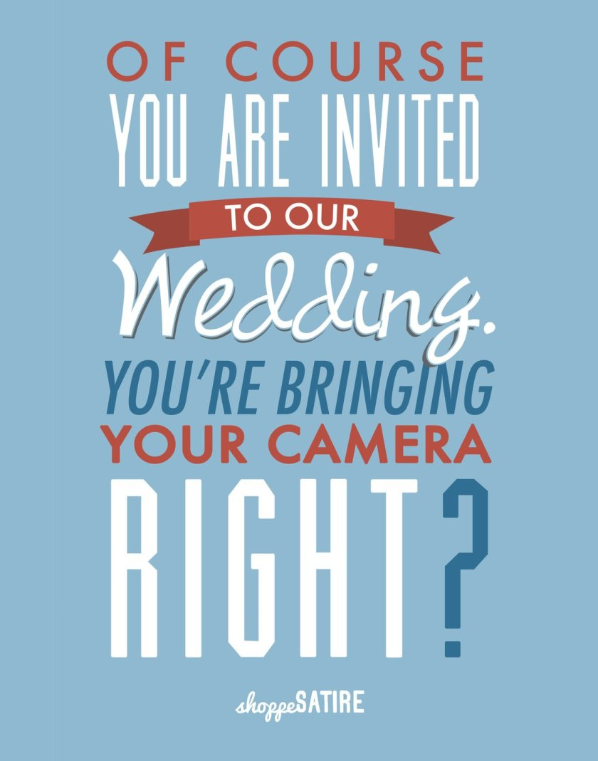 Wedding Season Thoughts #1 from Photofocus Sunday Comics