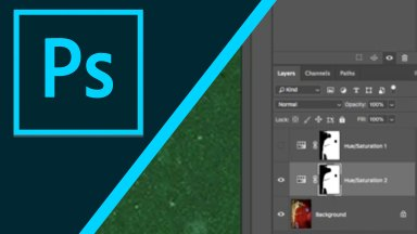 Using layer masks and adjustment layers in Photoshop