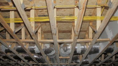 Before the sheetrock goes up, photograph the wiring and plumbing.