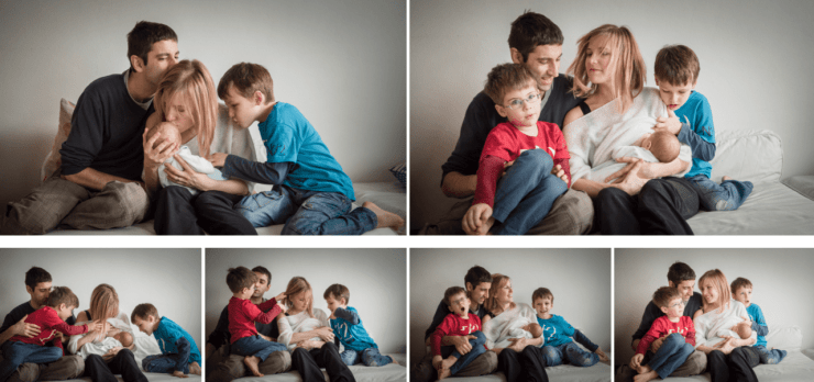 family portrait, family, children, documentary portrait