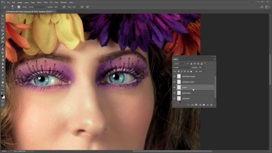 Quick Tip: Download and install eyelash brushes for realistic eyelashes in Photoshop