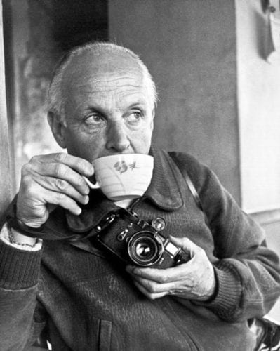 Henri Cartier-Bresson with Leica camera