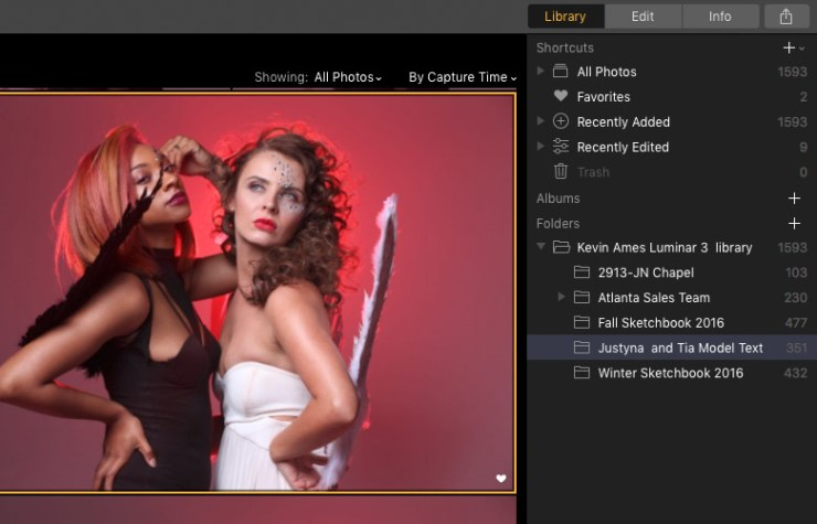 The Luminar 3 Library Tab