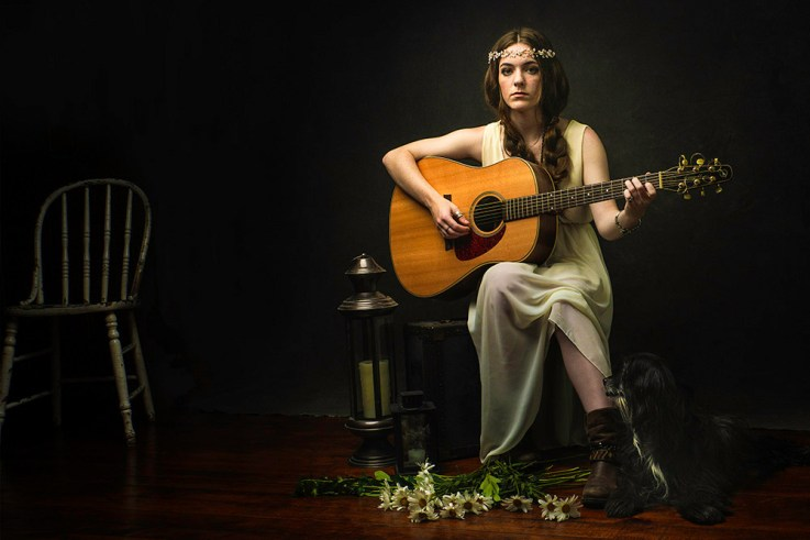 Beth the lonely guitar girl by Dave DeBaeremaeker