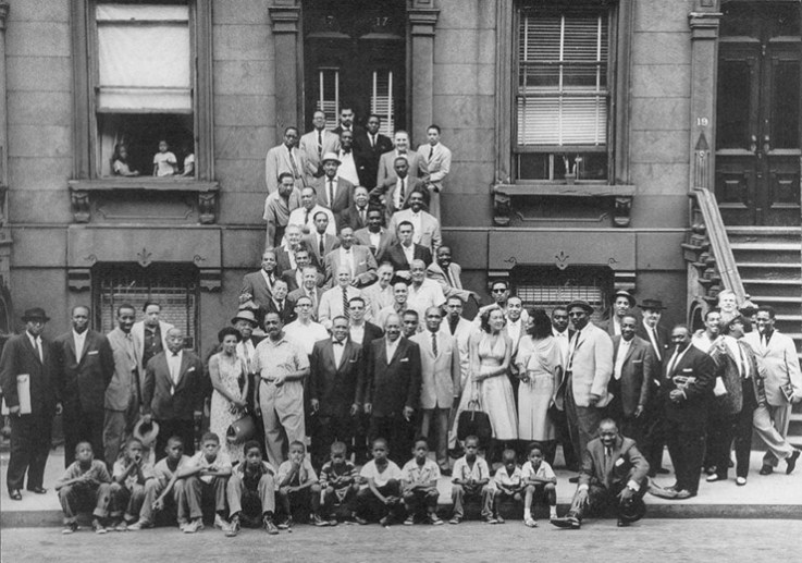 """""""A Great Day in Harlem"""" August 1958 by Art Kane"""