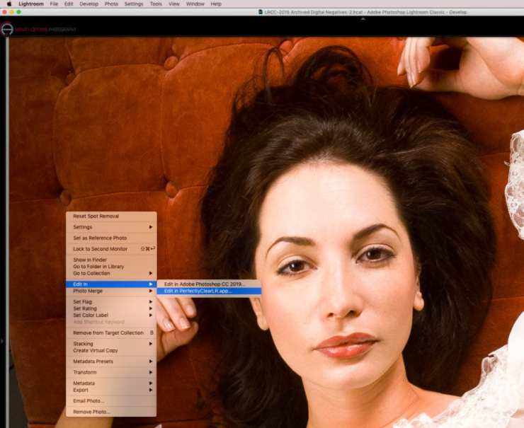 Begin by right-clicking then choosing Edit In in Lightroom. Select Perfectly Clear Complete.