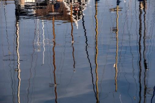 masts reflected