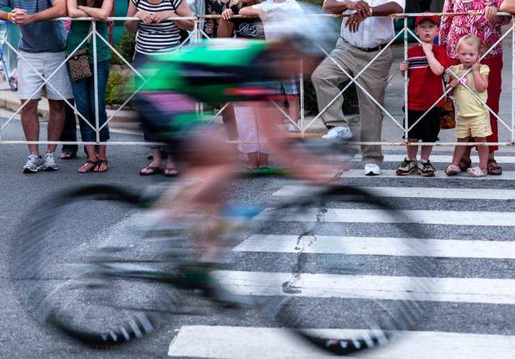 Racing blurred bicycle