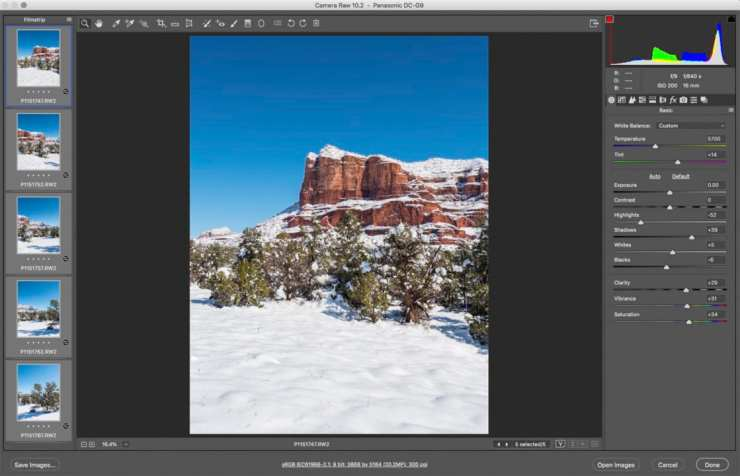 adobe camera raw screen capture