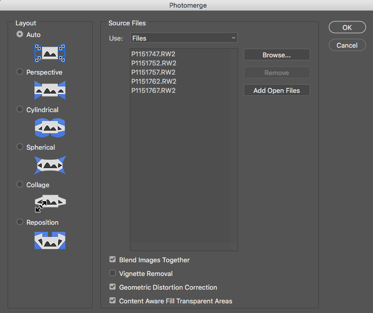 adobe bridge photo merge dialog screen capture