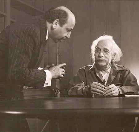 Yousuf Karsh with Albert Einstein 1948