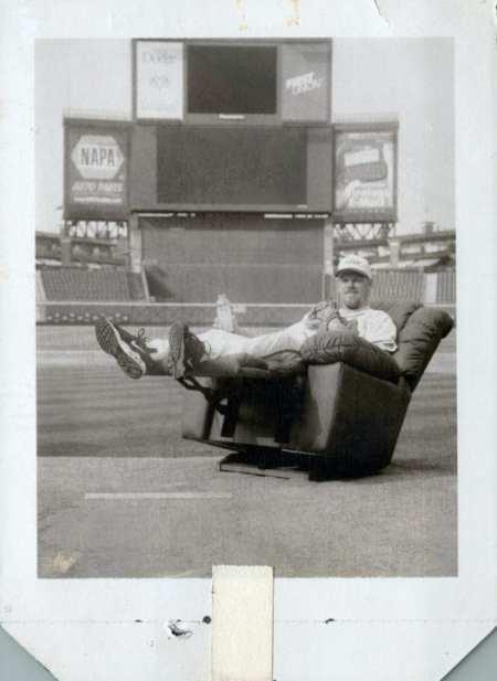 Polaroid test print: Atlanta Braves pitcher Kevin Millwood on the mound for La-Z-Boy in Fulton County Stadium May 4, 2000.