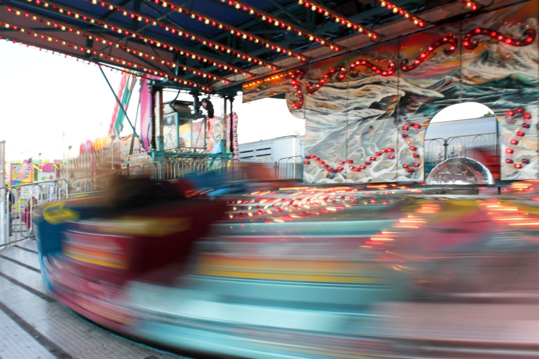 photographing rides at a carnival