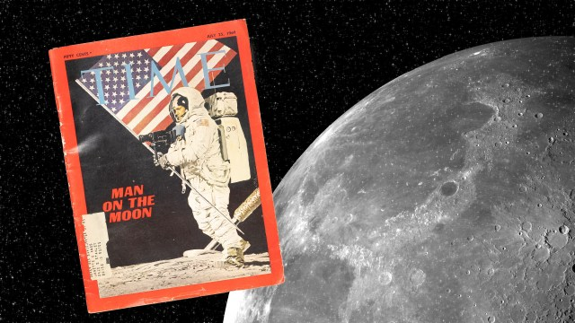 Why was a painting of the moon landing on the cover of Time?