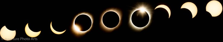 Composite of total solar eclipse of July 2, 2019 in Elqui Valley of Chile