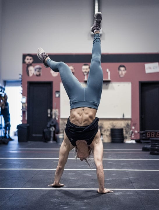 CrossFit athlete Alice Guerin does handstand walk abs