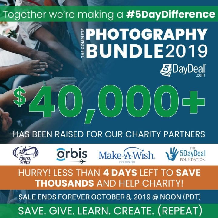 5DayDeal bundle 2019 raised $40,000 for charity