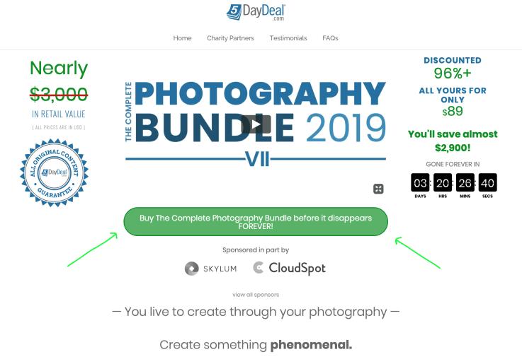5DayDeal Photography bundle 2019
