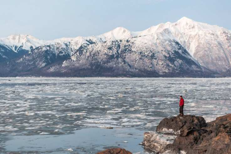 The true, no-color cast photo of Turnagain Arm.