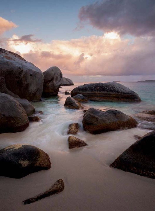 Sunrise at the Baths, Virgin Gorda, British Virgin Islands ISO 100; 1/2 sec.; f/22; 10mm