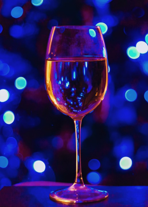 light bokeh with wine