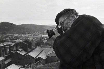 W. Eugene Smith photographing the Chisso plant in Minamata, Japan.