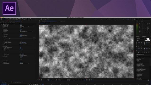 Creating fog with Fractal Noise in After Effects
