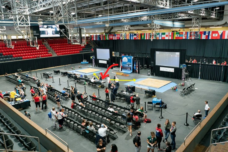 International sports event World Masters weightlifting championship venue