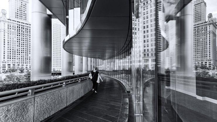 black and white architecture photo
