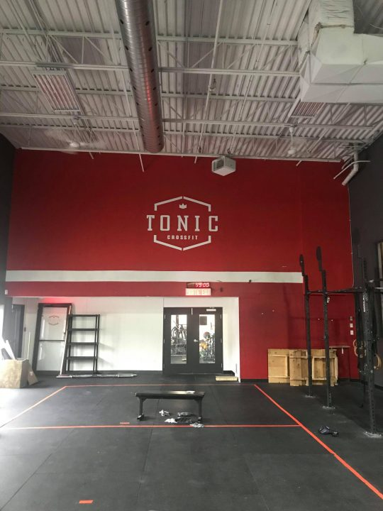 large gym wall