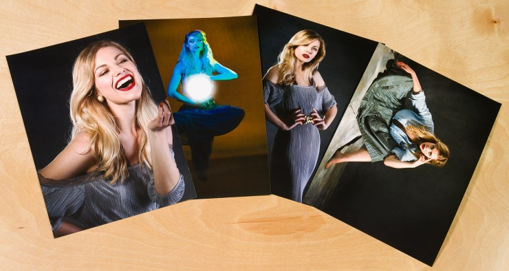 Going the extra mile on location: Give your client a print