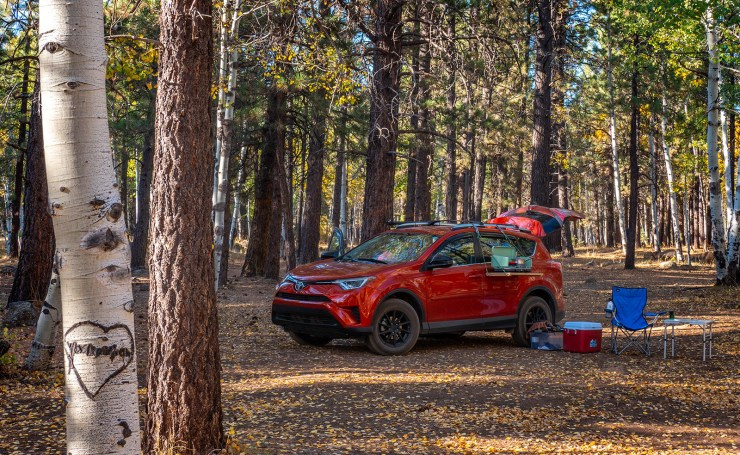 Toyota RV 4 car camping photo