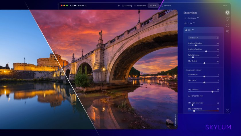 Skylum previews next generation of sky replacement, with water reflections