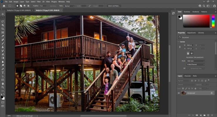 Screenshot Photoshop opening files