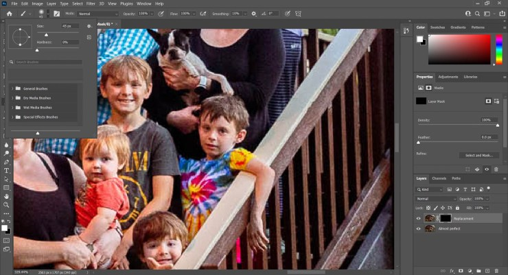 Screenshot Photoshop invert layer mask