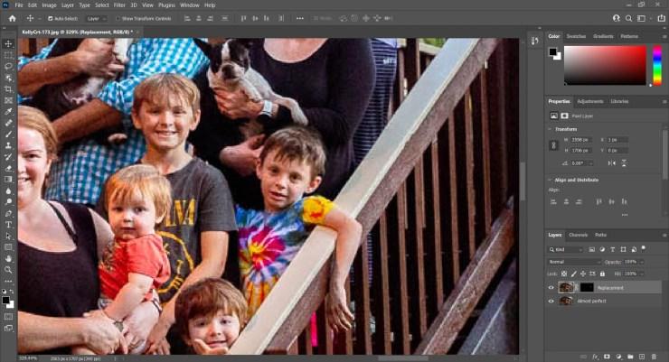 Screenshot Photoshop painting layer mask