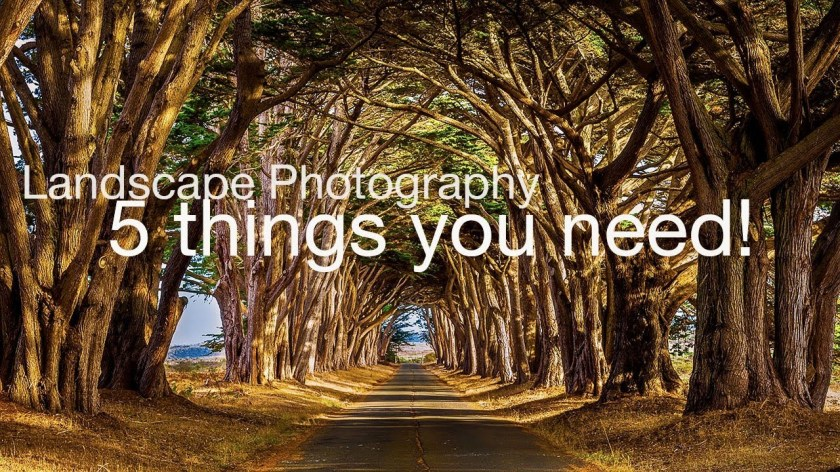 What GEAR do you NEED to start LANDSCAPE PHOTOGRAPHY? (just 5 things) - youtube