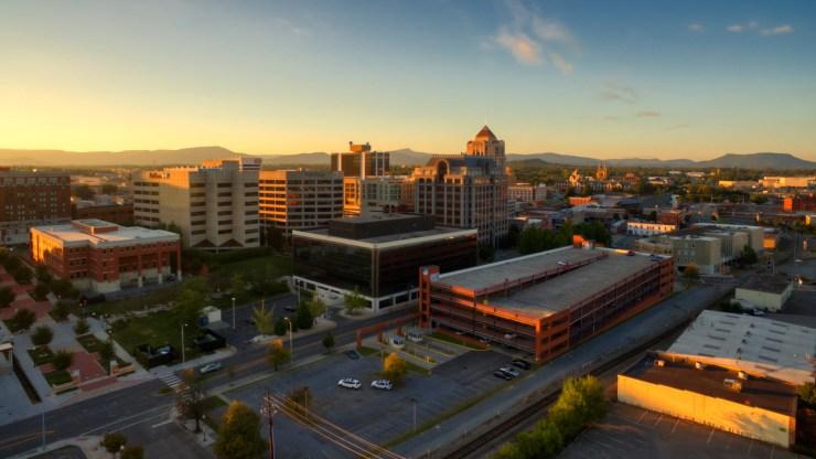 Historic Downtown Roanoke VA, NW view