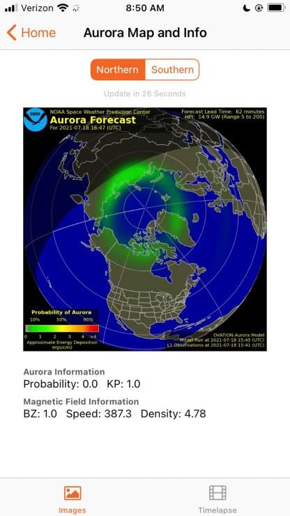 Light pollution, app, map, sky, aurora