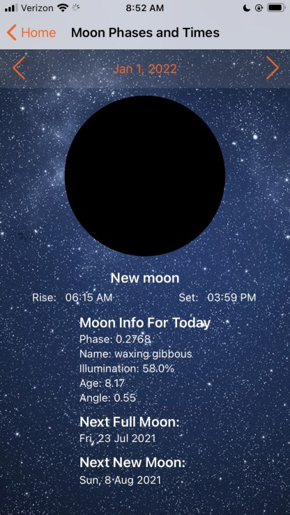 Light pollution, app, map, sky, moon