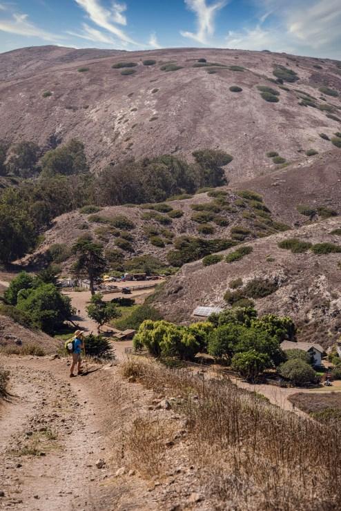 Overlooking Scorpion Bay on Santa Cruz Island.